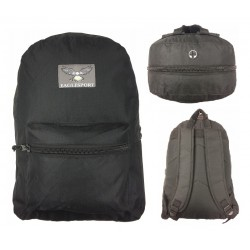 "17"" Eaglesport All Black Backpack $4.00 Each"