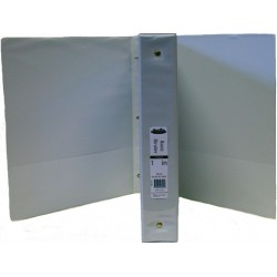 "Wholesale 1"" 3 Ring White View Binder $1.29 Each."
