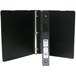 "Wholesale 1"" 3 Ring Black View Binder $1.29 Each."