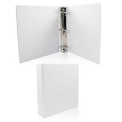 "1"" 3 Ring White Hard View Binder Price $1.19 Each."