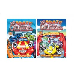 Wholesale Crazy Cars Coloring Book $0.70 Each.