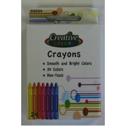 Wholesale 24 count Crayons $0.51 Each.