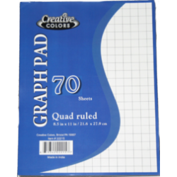 Quad Ruled Graph Pad at $0.78 ea.