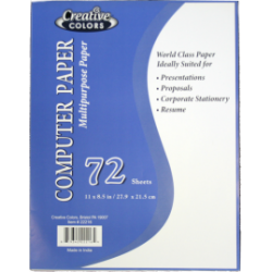 Wholesale Computer Paper 72 Sheets $0.80 Each.