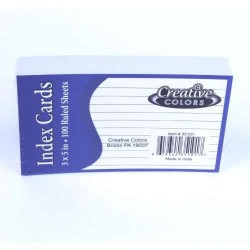 3 x 5 Lined Index Cards $0.52 Each.