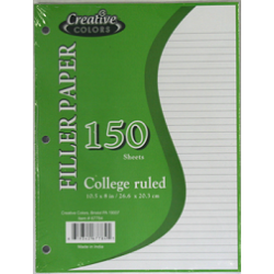 Wholesale College Ruled Notebook Paper $0.95 Each.