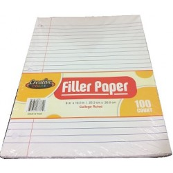 Wholesale College Ruled Filler Paper $0.80 Each.