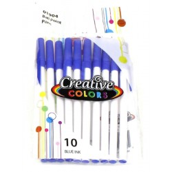 Wholesale Blue Ink Pens 10 pack $0.85 Each.