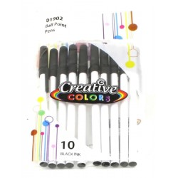 Wholesale Black Ink Pens 10 pack at $0.85 Each.