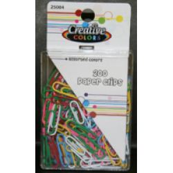 200 Assorted Paper Clips $0.84 Each.