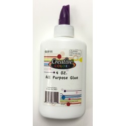 4 oz. White Glue Bottle $0.62 Each