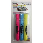 Assort. Color Highlighters 3pk. $0.78 ea.