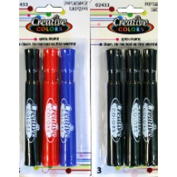 Broad Tip Permanent  Marker 3 pk.  $0.78 Each