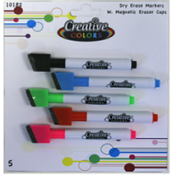 Dry Erase Fine Markers 5pk $1.24 Each