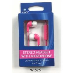 ONN Earbuds w/ Mic. $1.95 Each.