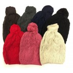 Ladies Knit Winter Hat w/ Pom Pom $1.59 Each.