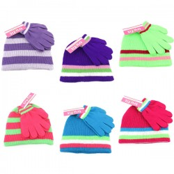 Girl's Hat & Glove Set $2.79 Each.